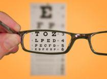 Glasses eye chart