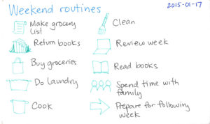 Weekend routine